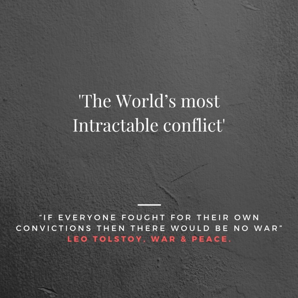 The World's most Intractable conflict